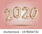 happy new year 2020 frame. gold ... | Shutterstock .eps vector #1478006732