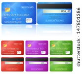 set of realistic credit card... | Shutterstock .eps vector #147801386