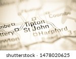 Tipton St. John. United Kingdom on a geography map