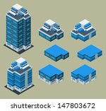 separated isometric building... | Shutterstock .eps vector #147803672