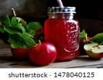 stewed apples on a rustic table ... | Shutterstock . vector #1478040125