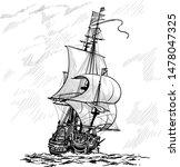 Sailing Ship Vintage Frigate On ...