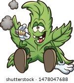 Cartoon Cannabis Plant...