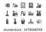 cleaning icons. laundry  window ... | Shutterstock .eps vector #1478068598