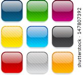 set of blank colorful square... | Shutterstock .eps vector #147807392