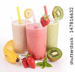 three glasses of smoothies | Shutterstock . vector #147816632