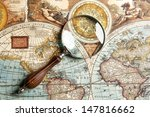 Magnifying Glass And Ancient...