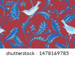 seamless pattern with birds and ...   Shutterstock . vector #1478169785