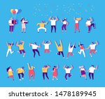 people dancing and have fun....   Shutterstock .eps vector #1478189945
