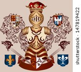 vector heraldic illustration in ... | Shutterstock .eps vector #147819422