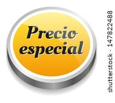 spanish special price button in ...   Shutterstock .eps vector #147822488