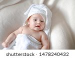 Baby Applying Lotion Cream On...