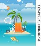 summer seaside vacation... | Shutterstock .eps vector #147824156