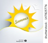 sun. abstract summer background.... | Shutterstock .eps vector #147825776