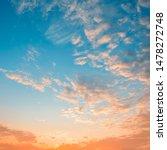 Beautiful Sunrise Sky With...