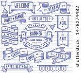 set of vintage banner and... | Shutterstock .eps vector #1478274482