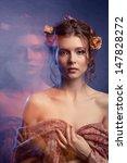 beauty girl.fashion art woman...   Shutterstock . vector #147828272