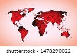 world map triangle geometric... | Shutterstock .eps vector #1478290022