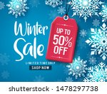 winter sale vector banner... | Shutterstock .eps vector #1478297738