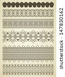 set of detailed vintage borders   Shutterstock .eps vector #147830162