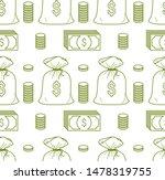 money cash seamless background  ... | Shutterstock .eps vector #1478319755