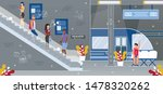 metropolis subway or high speed ... | Shutterstock .eps vector #1478320262
