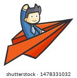 funny and cool businessman...   Shutterstock .eps vector #1478331032