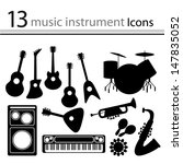 set of icons of musical... | Shutterstock .eps vector #147835052