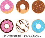 donuts icon on white background....