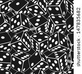 Dice seamless background pattern. Vector illustration.