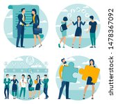 flat design business process...   Shutterstock .eps vector #1478367092