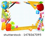 vector school education frame... | Shutterstock .eps vector #1478367095