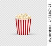 popcorn. bucket of popcorn icon.... | Shutterstock .eps vector #1478367425