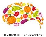 harvest festival background... | Shutterstock .eps vector #1478370548