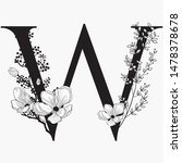 vector hand drawn floral... | Shutterstock .eps vector #1478378678