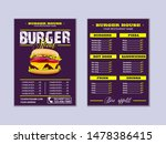 menu placemat food restaurant... | Shutterstock .eps vector #1478386415