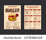 menu placemat food restaurant... | Shutterstock .eps vector #1478386418