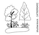 isolated autumn season trees... | Shutterstock .eps vector #1478390492