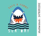 cute shark head drawing as...   Shutterstock .eps vector #1478392202