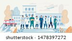 professional medical team staff ... | Shutterstock .eps vector #1478397272