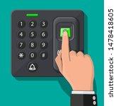password and fingerprint... | Shutterstock .eps vector #1478418605
