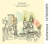 prague  czech republic  europe. ... | Shutterstock .eps vector #1478432855