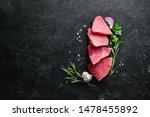 Raw Tuna Fillet. Seafood On A...