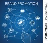 brand promotion concept  blue...