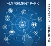 amusement park concept  blue...