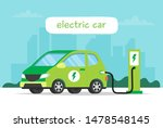 electric car charging on city... | Shutterstock . vector #1478548145