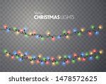 christmas lights. xmas string ... | Shutterstock .eps vector #1478572625