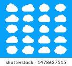 set of cloud flat icons...