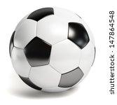 Leather Football. Single Soccer ...