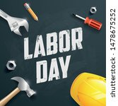 happy labor day banner  poster. ... | Shutterstock .eps vector #1478675252